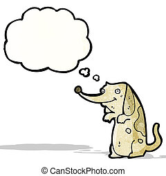cute funny little dog cartoon