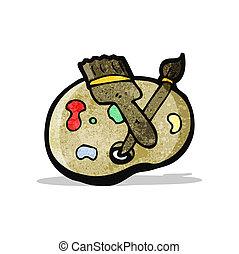 artist's pallette cartoon