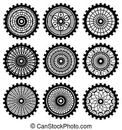 the gears - Vector gears set in the style of steampunk