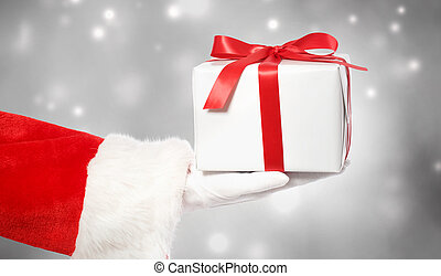 Santa Claus Giving a Christmas Gift - Santa Claus Giving a...