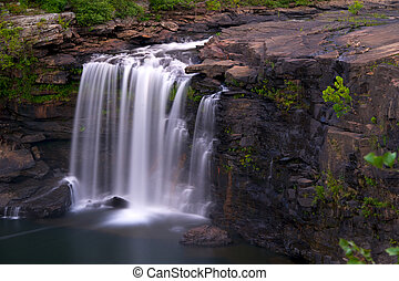 Waterfall - Little River Falls in north eastern Alabama