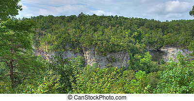 River Canyon Bluffs - Little River Canyon in Northeast...