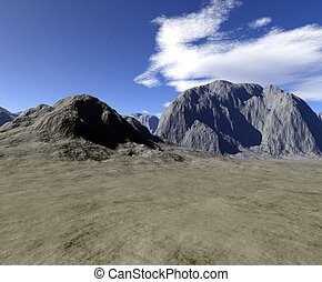Digital render of landscape