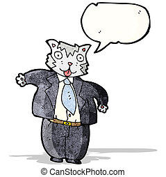 cartoon fat cat businessman