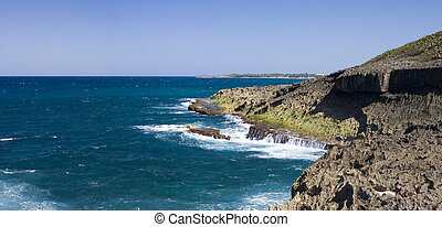 Ocean shore Puerto Rico - Northern ocean shore in Puerto...