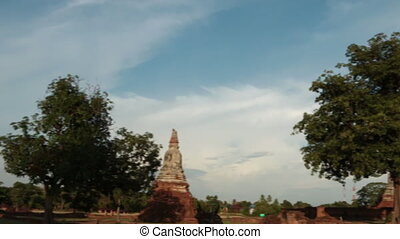 ancient temple of thailand - wat chaiwattanaram one of world...