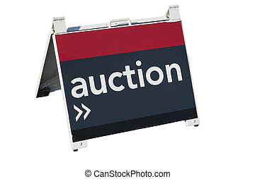 For Auction - A sign advising of a property for auction on a...