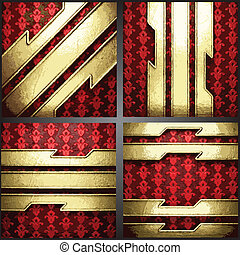 vector red background with gold