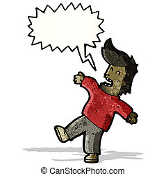 fainting man cartoon