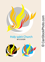 Holy spirit logo - Holy spirit church mission logo, art...