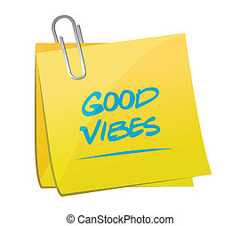 good vibes memo post illustration design over a white...