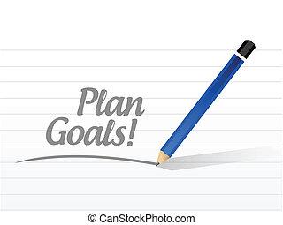 plan goals message illustration design