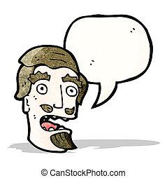 cartoon shocked man with goatee beard