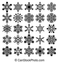 Vector snowflake collection