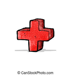 cartoon addition symbol