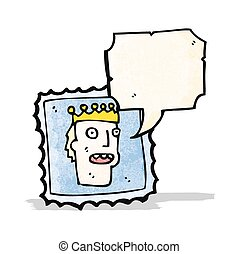 talking postage stamp cartoon
