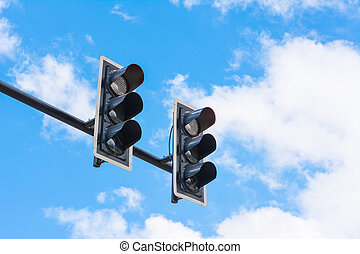 image of traffic light, the light is fail. symbolic for...