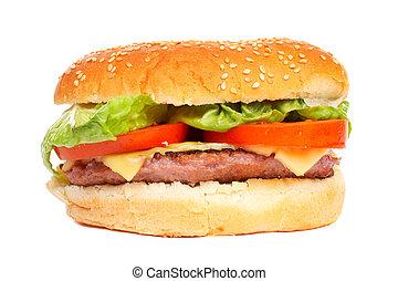 queijo, hambúrguer
