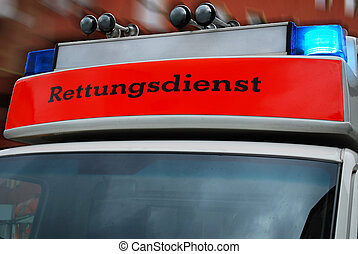 ドイツ語, 救急車