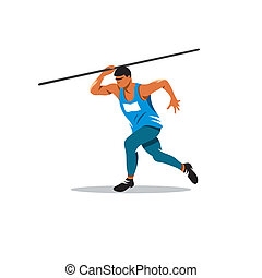 Javelin Thrower vector sign