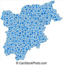 Map of Trentino Alto Adige - Decorative map of Trentino Alto...