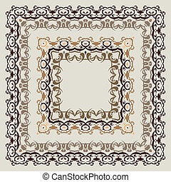Ornamental Frame - Vector border Ornamental Frame Hand drawn...