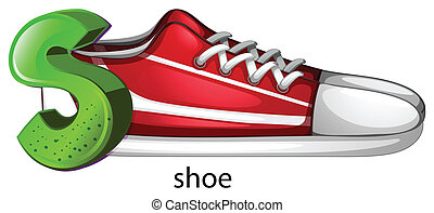 A letter S for shoe