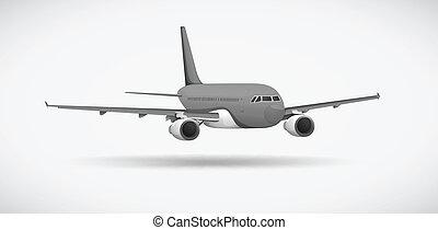 na, Samolot