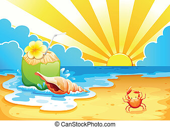 A beach - Illustration of a beach