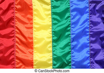 Rainbow flag symbol of gay pride