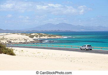 Coast near Corralejo, Canary Island Fuerteventura, Spain