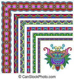 collection of ornamental floral vintage frame design. All...