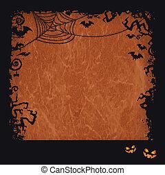 Orange Halloween grunge frame