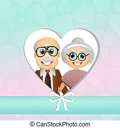 Grandparents Day - illustration of grandparents Day
