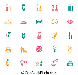 Collection of Fashion and Shopping Icons