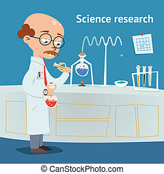 Scientist doing research in a laboratory - Scientist doing...
