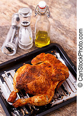 Delicious chicken on the table
