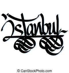 Istanbul hand lettered urban typography design