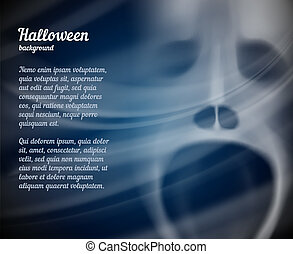 Halloween background with copyspace for text - Scary vector...