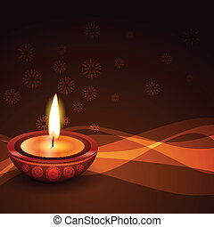 stylish diwali diya background