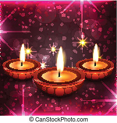 Diwali diya background - Vector Diwali diya background