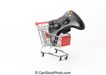 Caddy for shopping with game pad - Caddy for shopping with...