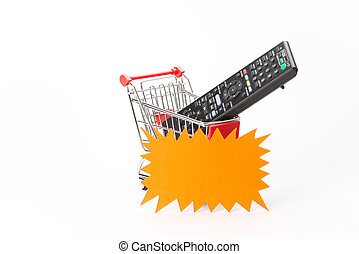Caddy for shopping with remote control - Caddy for shopping...