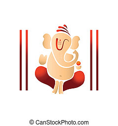 illustration of lord ganesh - Vector illustration of lord...