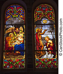 Notre Dame Cathedral Stained Glass Saigon Vietnam - Notre...