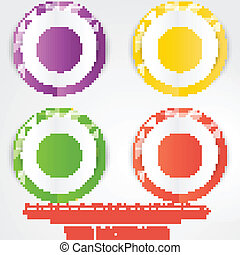 Vector abstract circles template Object web design
