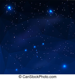 Constellation of Orion on a dark blue background in the...