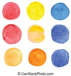 Watercolor grunge spots. Vector banners for your design. -...