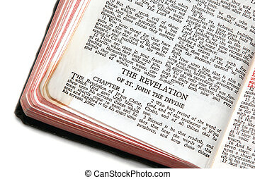 bible open to revelation