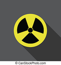 Flat icon of nuclear danger